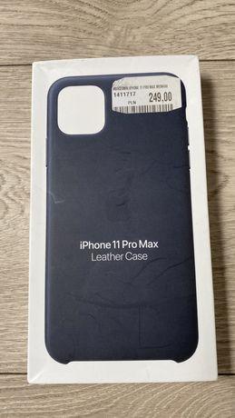 Skóra etui Apple iPhone 11 Pro Max Midnight Blue nowe oryginał