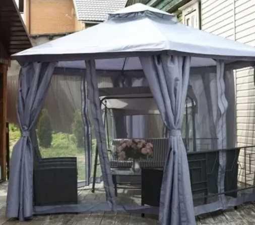 ТОП! Садовый павильон 4х4м. Палатка Тент шатер беседка. Шторки+Сетка!