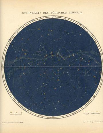 ASTRONOMIA III oryginalne XIX w. grafiki 31x25 cm