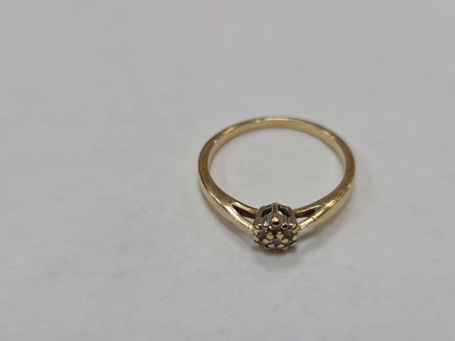 Apart! Certyfikat! Piękny złoty pierścionek/ R11.5/ 1.78 gram/ 0.1 CT