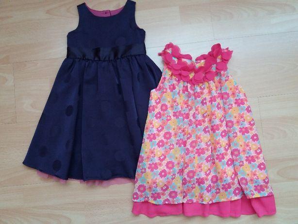 Kolorowa sukienka i fioletowa wyjściowa roz. 92-98