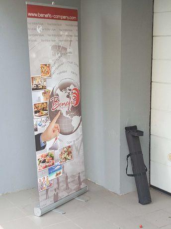 Мобильный стенд ролл-ап, Мобильная растяжка для баннера алюминий
