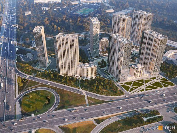 ЖК метрополис, Видовая Квартира 45М2,  26 этаж( Премиум Этаж)