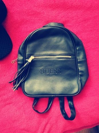 Plecak GUESS / plecaczek / czarny / skóra / nowy / modny / podręczny