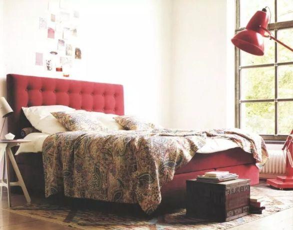 Łóżko Kontynentalne KING/BUTTON z 2 szafkami nocnymi Sembella