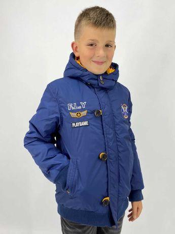 Теплая демисезонная куртка для мальчиков осень 9-13 лет