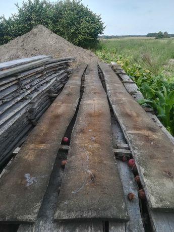 Tarcica deski na płot w stylu ranczo nie obrzynane sosna oraz krokwie