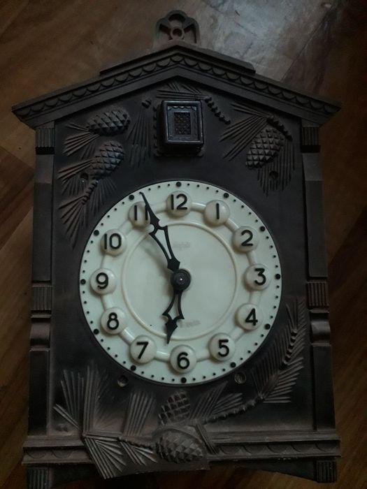 Zegar z kukułką MAJAK antyk staroć Pruszcz Gdański - image 1