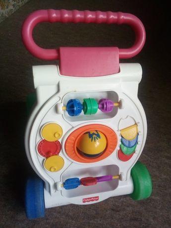 Pchacz jeździk zabawka wózek fisher price do nauki chodzenia roczek
