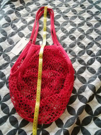 Czerwona siatka vero moda,nowa