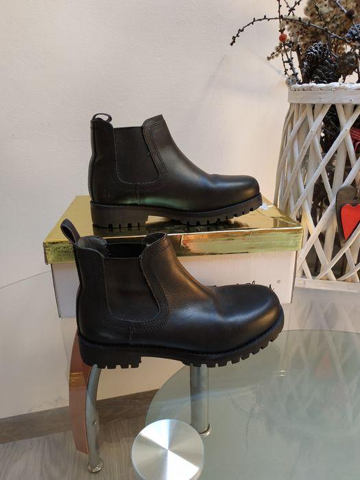 Next skórzane botki obuwie dziewczęce trapery buty czarne 32-33 Oświęcim - image 1