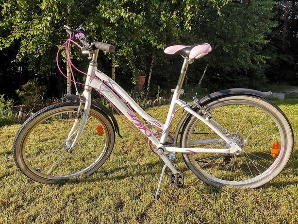 """Rower KROSS MODO 24"""" ALU - różowo-biały z 2016"""