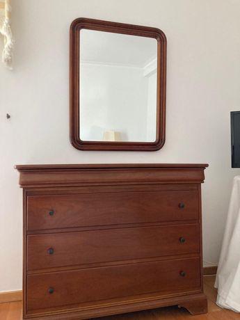 Cómoda e/ou espelho (madeira de cerejeira)