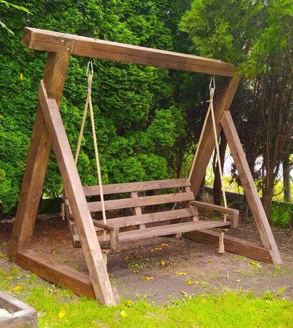 Huśtawka Ogrodowa Hustawka Drewniana Ozdoba Ogrodu Jedyna Taka