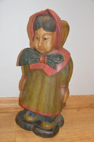 Drewniana Rzeźba. Duża, masywna. Kobieta(baba).