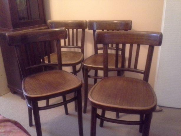 Krzesła przedwojenne gięte, antyczne, 4 szt. Unikat