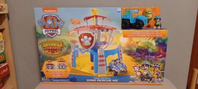 Psi patrol baza z windą Dino Rescue + figurka Rex i pojazd