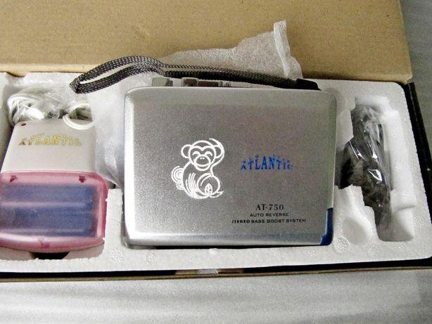 Плеер кассетный Atlantic AT-750 в коллекцию, новый,зарядное,автореверс
