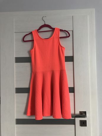 Sukienka jaskrawa pomaranczowa