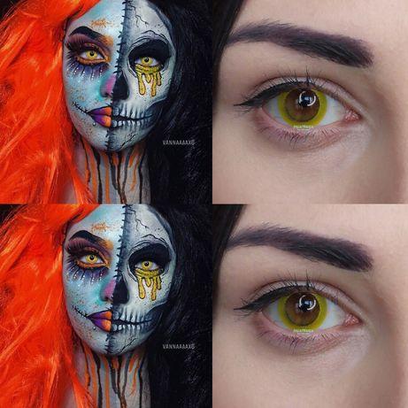 Крейзи линзы для глаз на хеллоуин