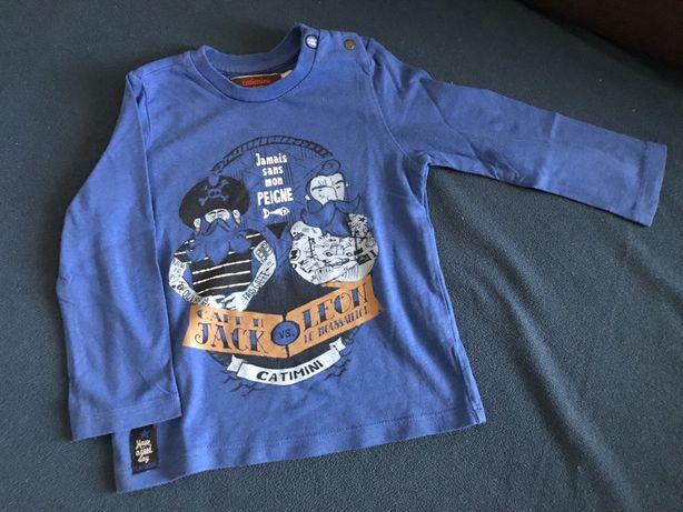 Sweat-shirt azulão CATIMINI 18 meses