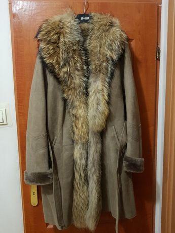 Piękne futro naturalne płaszcz LU-MAN
