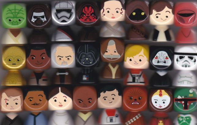 Coleção completa de 24 bustz Star Wars Continente