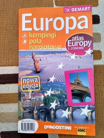 Europa kempingi pola namiotowe atlas Europy