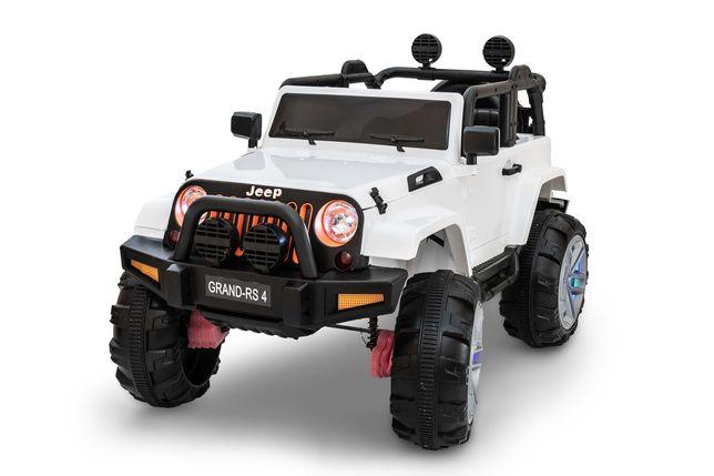 DWUOSOBOWE Auto na akumulator JEEP+pilot+światła LED+2silniki 40W