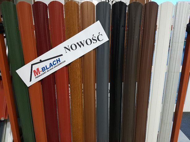 Sztachety na Ogrodzenie Metalowe w kolorach - dwustronne Okazja