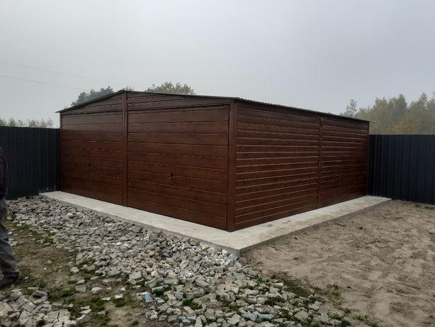 blaszak garaż na budowę schowek garaż blaszany konstrukcja stalowa 6x5