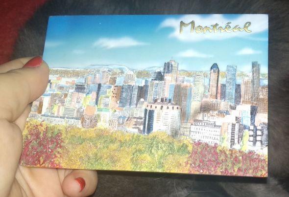 подарок из Канада Montréal Монреаль обьемная картина сувенир керамика