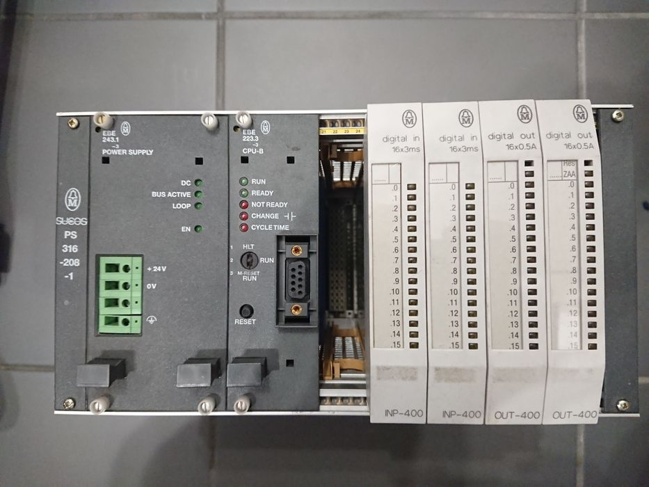 Sterownik plc moeller komplet rack + ebe243.1-3  + ebe223.3-3 Łódź - image 1