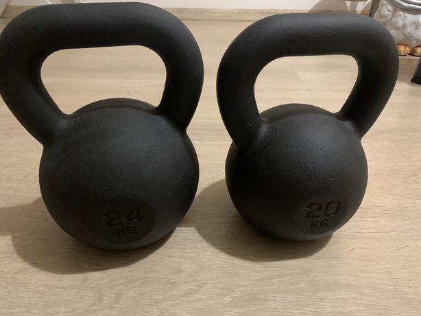 kettlebell 20kg i 24kg