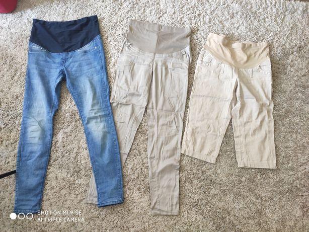 Spodnie ciążowe + piżama do karmienia