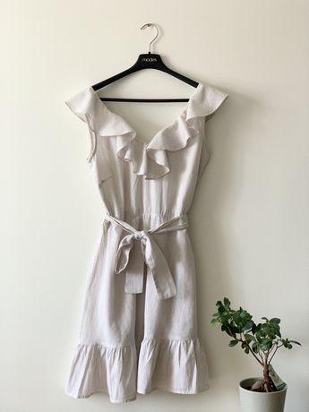 Top Secret letnia sukienka boho falbany S