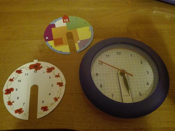 obrazek dla dzieci, zegar z pięcioma tłami do wyboru