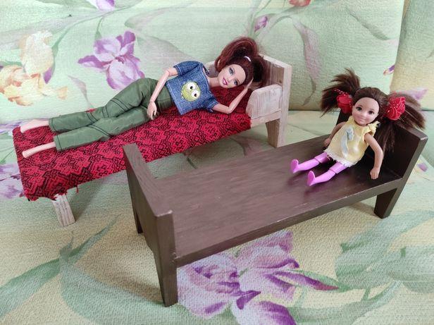Кровать для Барбі игрушечная куклы Barbie мебель іграшкова кукольная