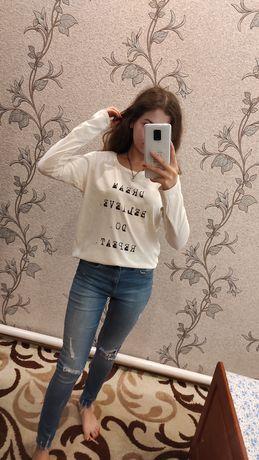 Кофта, лёгкий свитер OLKO, свитер с кружевом Zara Mango Bershka