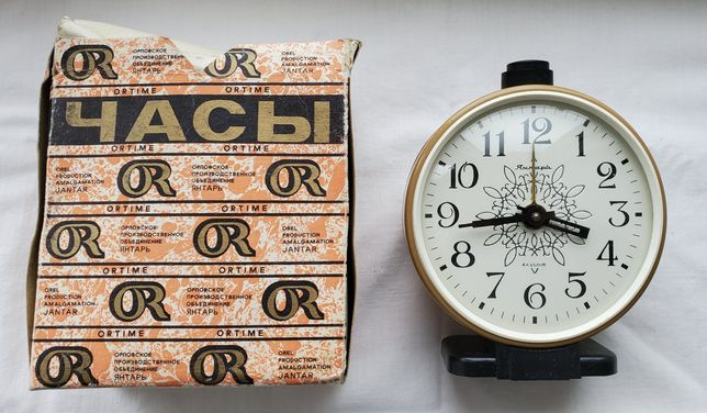 """Часы-будильник """"Янтарь"""" 4 камня"""