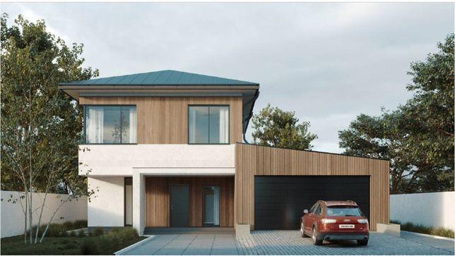 Готовый проект дома с цоколем на 240 м.кв. архитектурный, инженерный