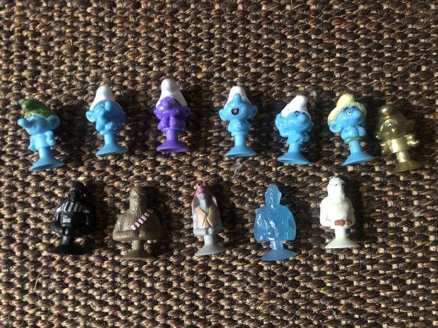 12 figurek steekiz z Lidla, stara wars i smurfy