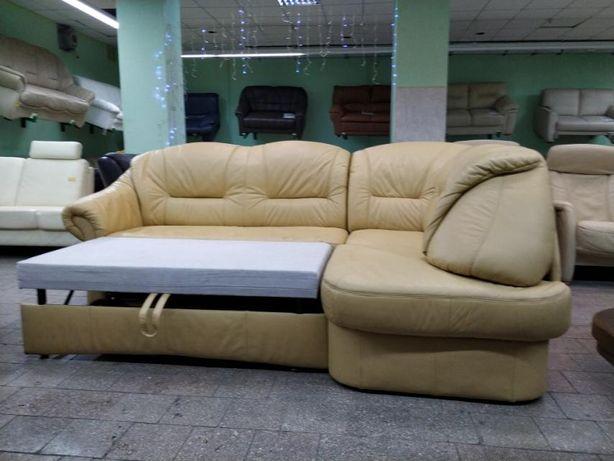 """Кожаный угловой диван и кресло """"Elastoform"""" (191207) из Германии"""