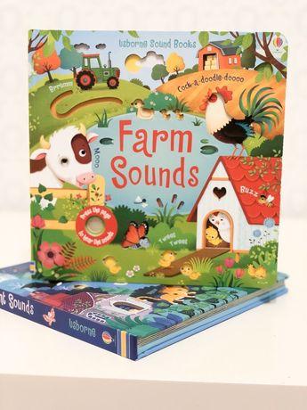 Usborne Farm Sounds книга игрушка со звуками