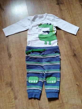 Zestaw:body i spodnie, rozm. 62, Coccodrillo