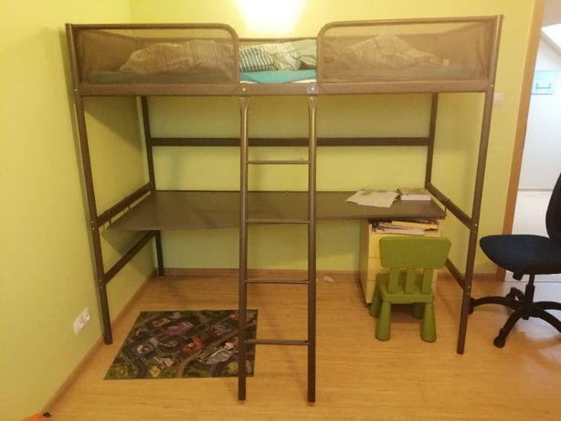 Łóżko piętrowe SVARTA IKEA, komplet, nowa cena