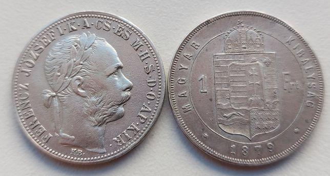 1 флорин 1883 г. 1879 г. Австро - Венгрия Серебро 2 монети
