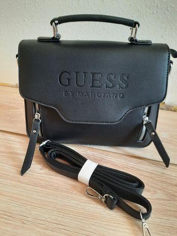 Nowa skórzana torebka Guess damska listonoszka