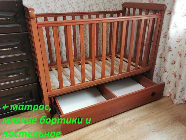 Детская кроватка/кровать Верес Соня ЛД12 (ящик, маятник, лапки)