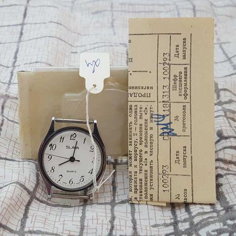 Новые часы Слава кварц СССР с документами (Worldwide shipping)